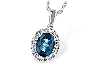 A189-46835: NECK 1.28 LONDON BLUE TOPAZ 1.41 TGW