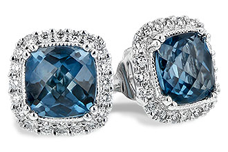 A189-46844: EARR 2.14 LONDON BLUE TOPAZ 2.40 TGW