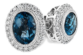 B189-46835: EARR 1.76 LONDON BLUE TOPAZ 2.01 TGW
