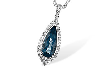 B189-48653: NECK 2.40 LONDON BLUE TOPAZ 2.65 TGW