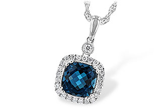 C189-46826: NECK 1.63 LONDON BLUE TOPAZ 1.80 TGW