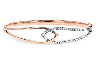 C189-53262: BANGLE BRACELET .50 TW (ROSE & WG)