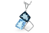 E188-61398: NECK 10.60 BLUE TOPAZ 10.73 TGW