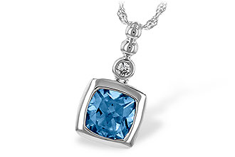 E189-50498: NECK 1.45 BLUE TOPAZ 1.49 TGW