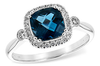 F189-46844: LDS RG 1.62 LONDON BLUE TOPAZ 1.78 TGW