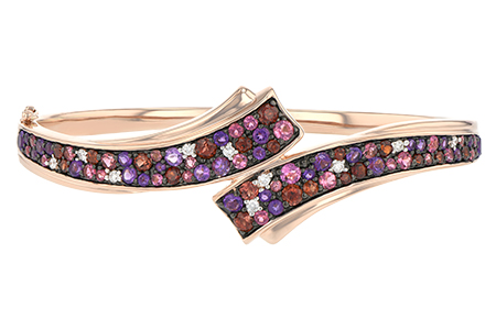 G188-61416: BANGLE 3.12 MULTI-COLOR 3.30 TGW (AMY,GT,PT)