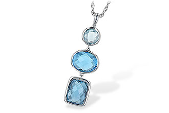 H189-46880: NECK 7.85 BLUE TOPAZ TW
