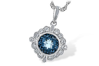 L189-48689: NECK .98 BLUE TOPAZ 1.10 TGW