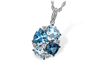 M189-46825: NECK 2.60 BLUE TOPAZ 2.70 TGW